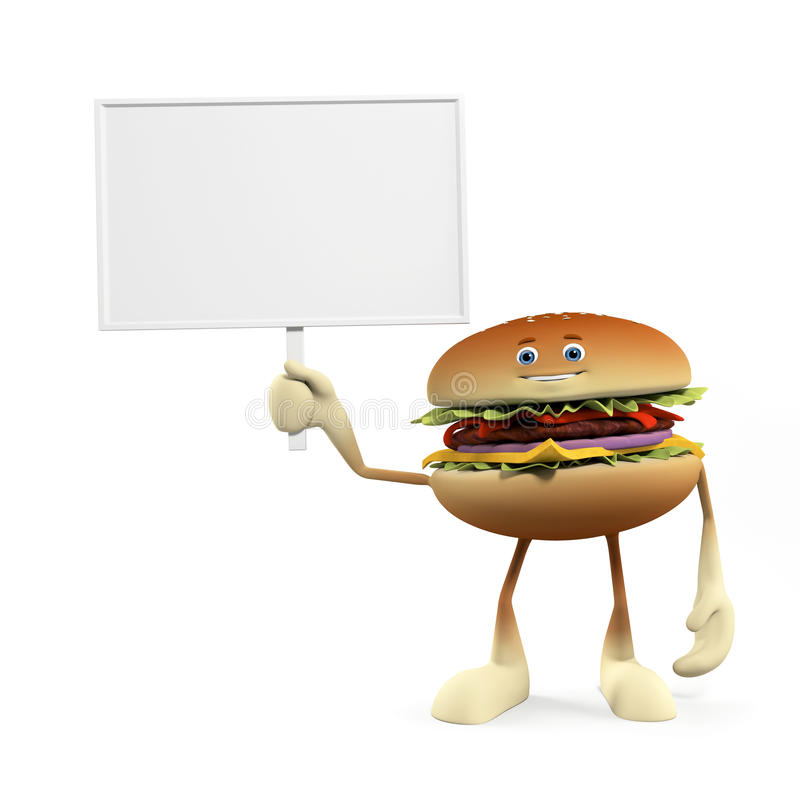 Download Funny Burger Royalty Free Stock Photography - Image: 25373457