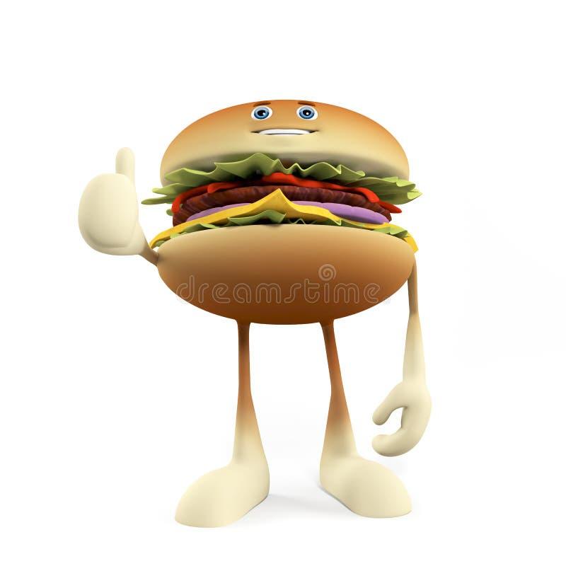 Funny Burger Royalty Free Stock Image