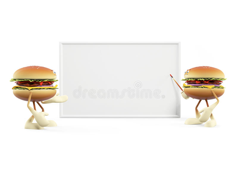 Funny Burger Royalty Free Stock Images