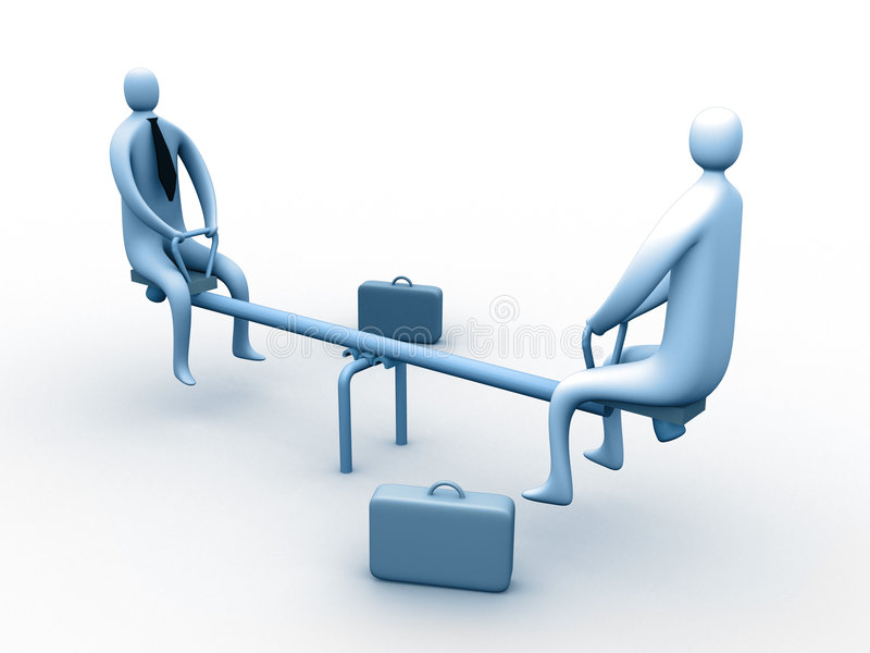 Funny business meeting stock illustration