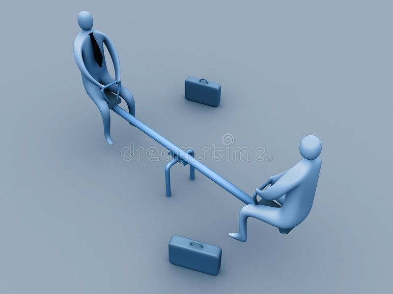 Download Funny business meeting stock illustration. Illustration of seesaw - 109563