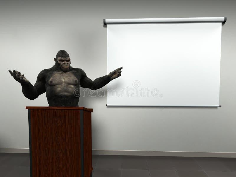 Funny Business Sales Team Marketing Presentation vector illustration