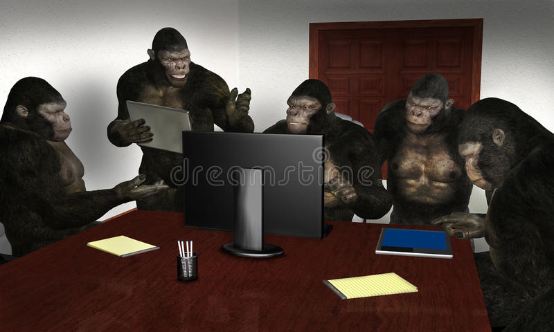 Funny Business Sales Team Meeting royalty free stock images