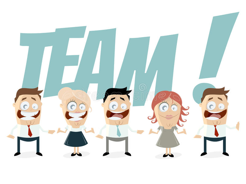 Download Funny business team stock vector. Illustration of woman - 42100332