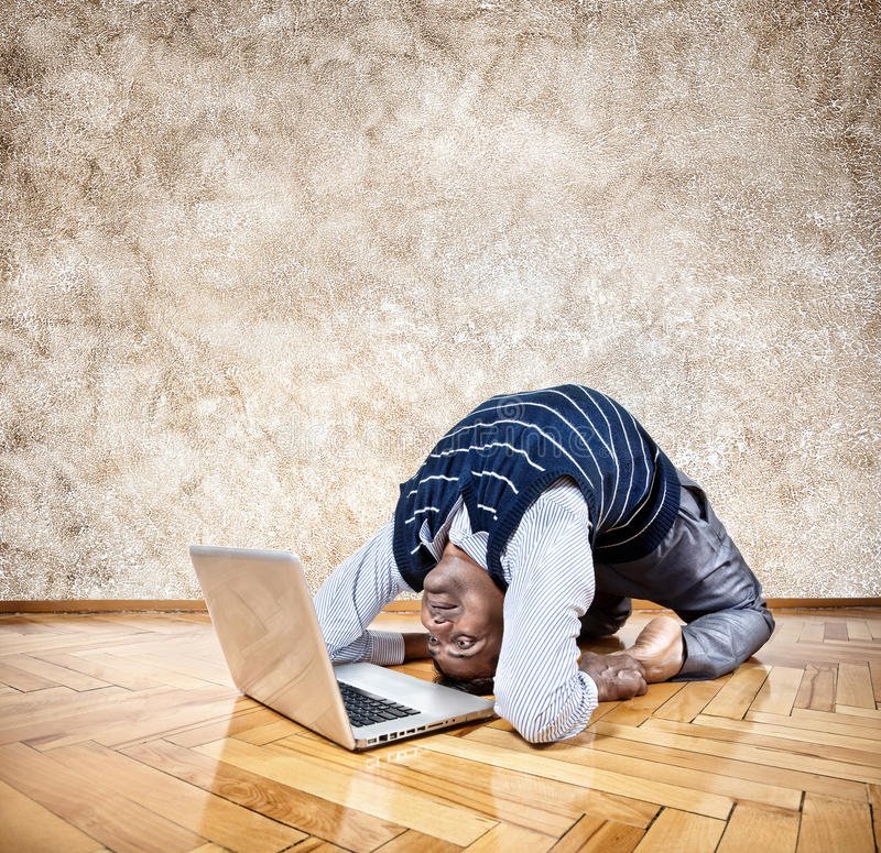 Download Funny business yoga stock image. Image of manager, male - 28694493