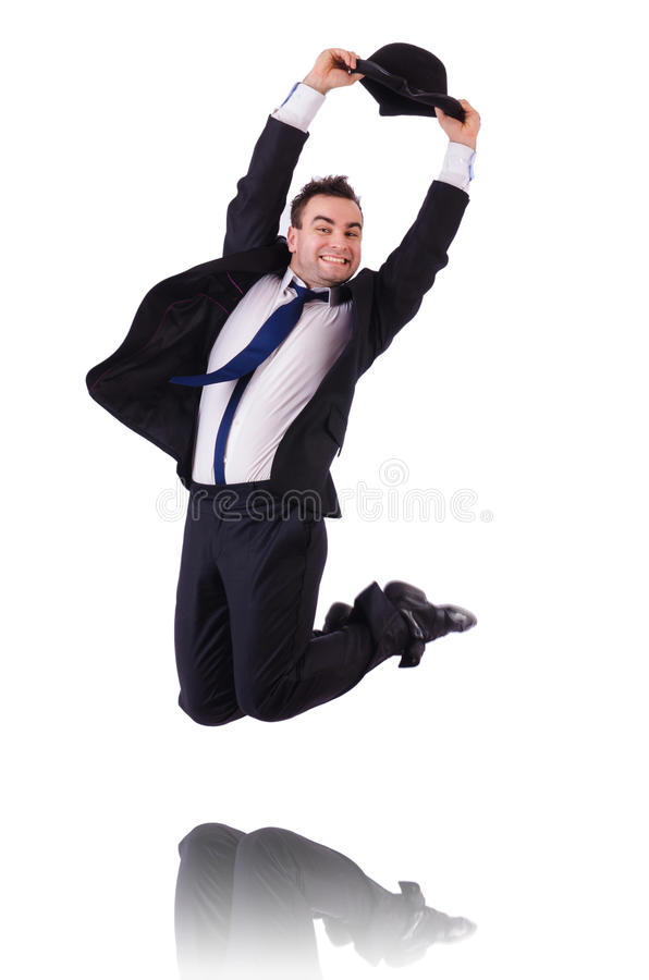 Download Funny businessman jumping stock photo. Image of humour - 33965194