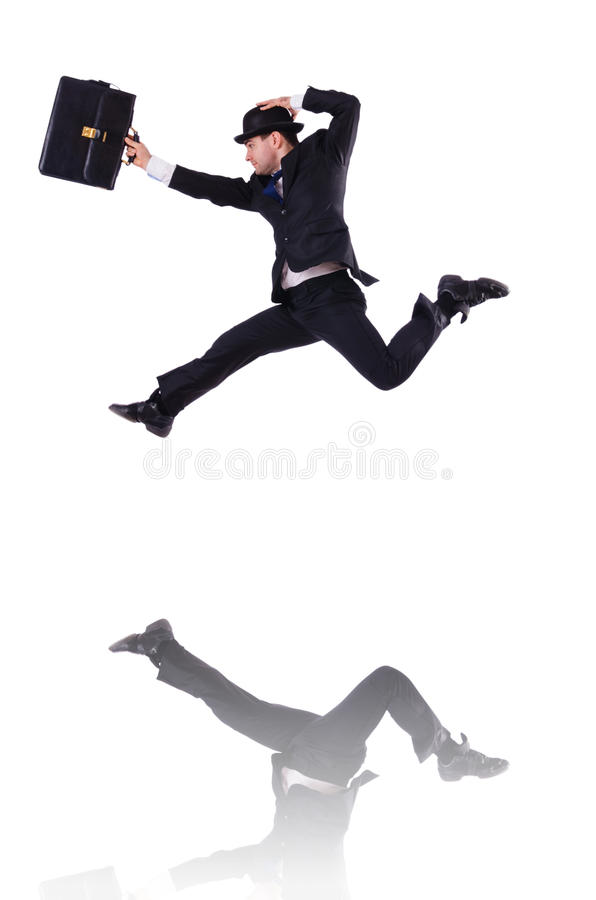 Download Funny businessman jumping stock image. Image of humorous - 34286145