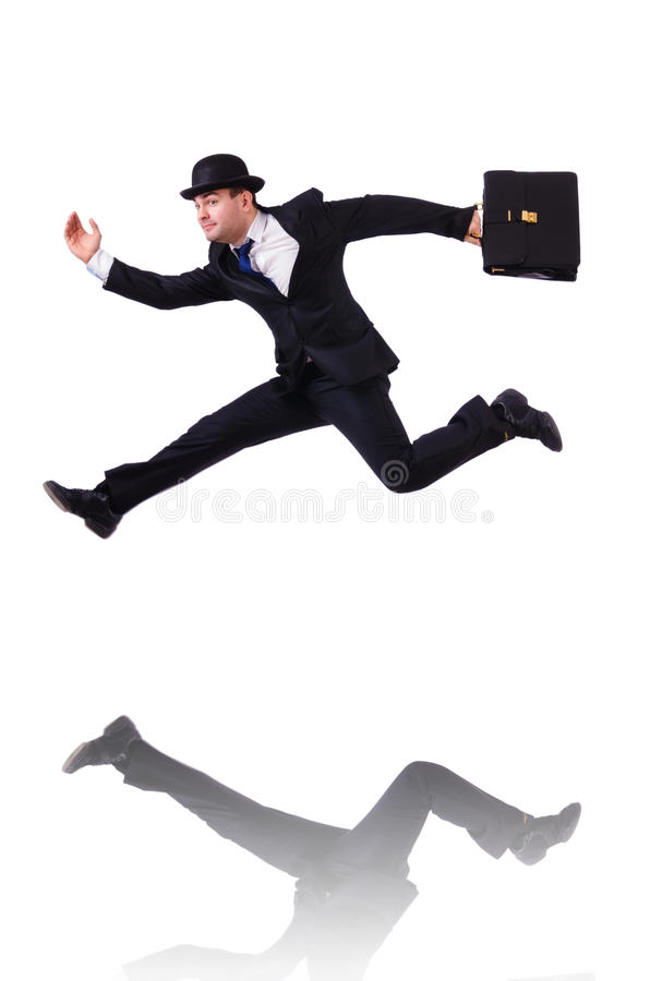 Download Funny businessman jumping stock image. Image of businessman - 34469363