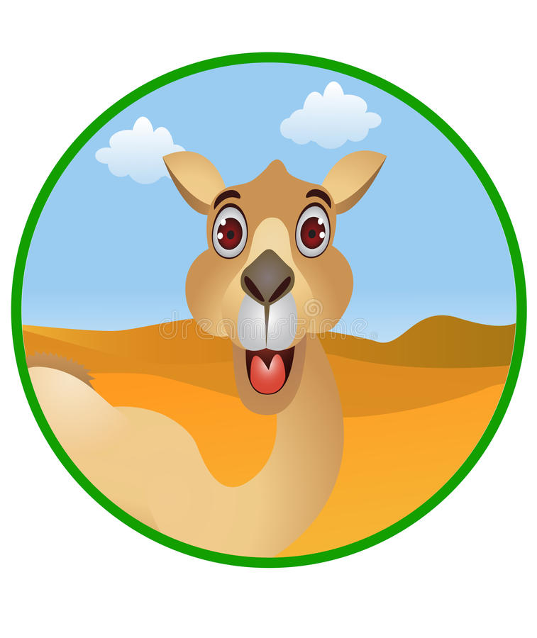Download Funny camel cartoon stock vector. Image of face, cute - 23270879