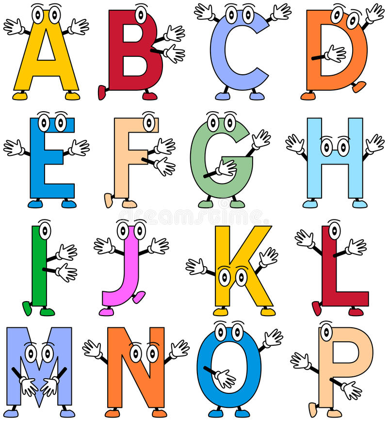 Funny Cartoon Alphabet [1] vector illustration