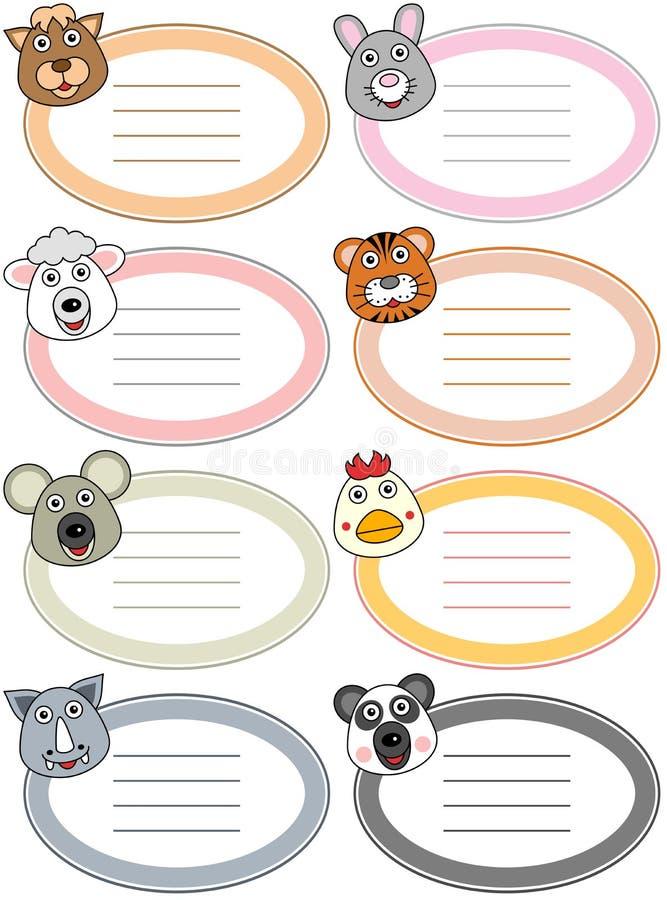 Funny Cartoon Animal Labels [3] royalty free illustration