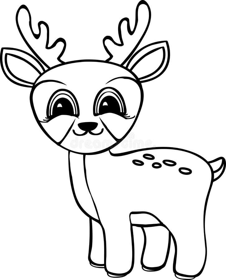 Funny cartoon baby deer stock illustration Illustration