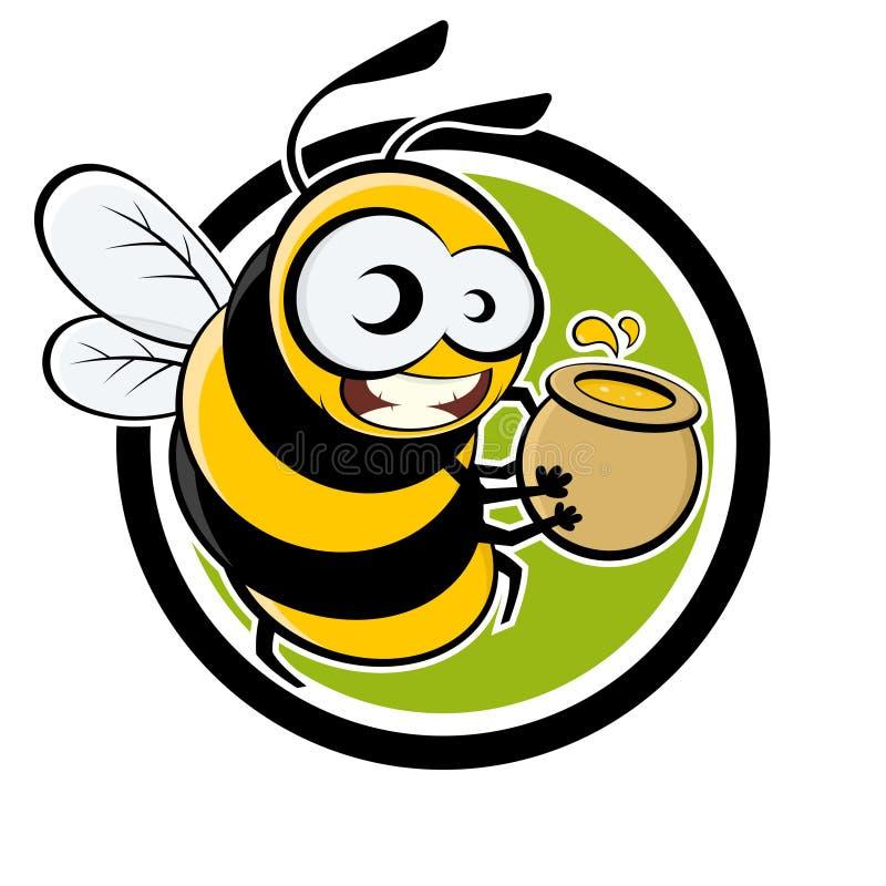 Funny cartoon bee stock illustration