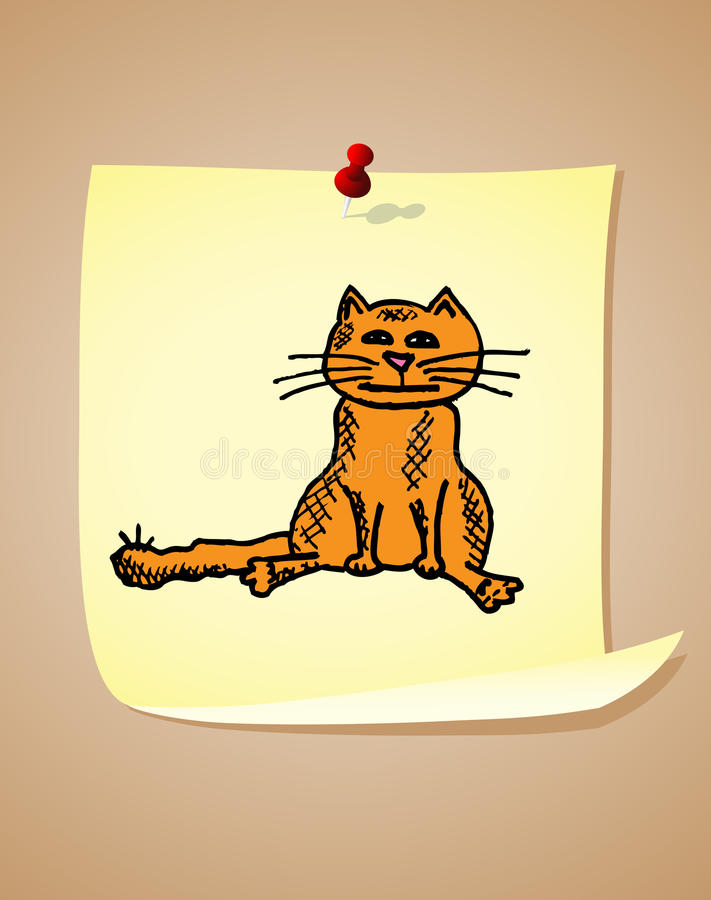 Download Funny cartoon cat stock vector. Image of post, illustration - 23319901