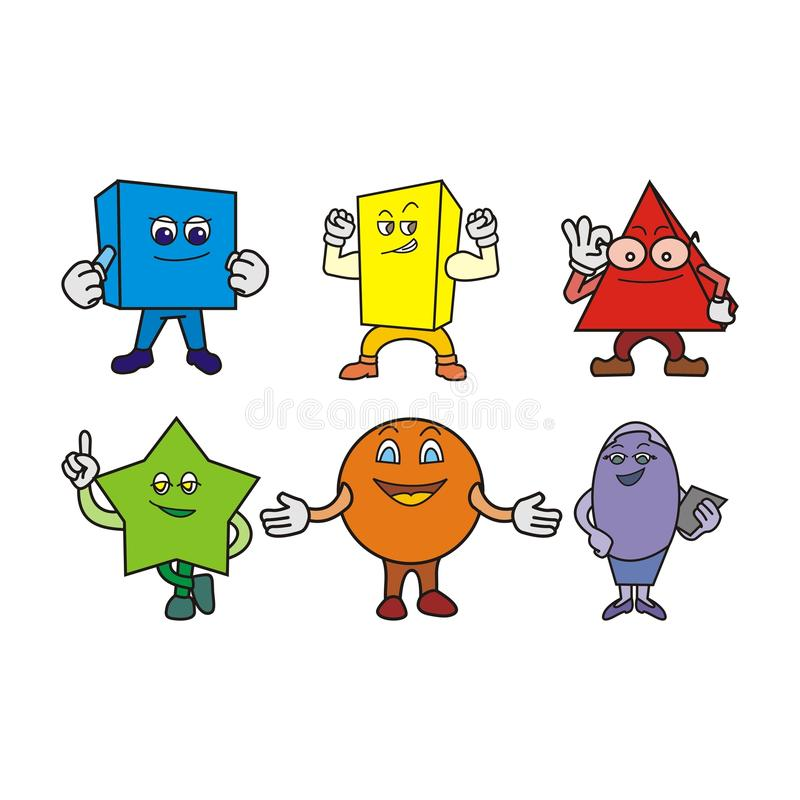Funny Cartoon Characters Set. Clip Art With Various Facial Expressions and Emotions. - vector illustration - vector objects grouped - vector available CMYK vector illustration