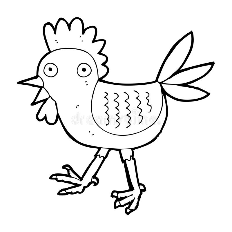 Download Funny Cartoon Chicken Stock Illustration Of Traditional