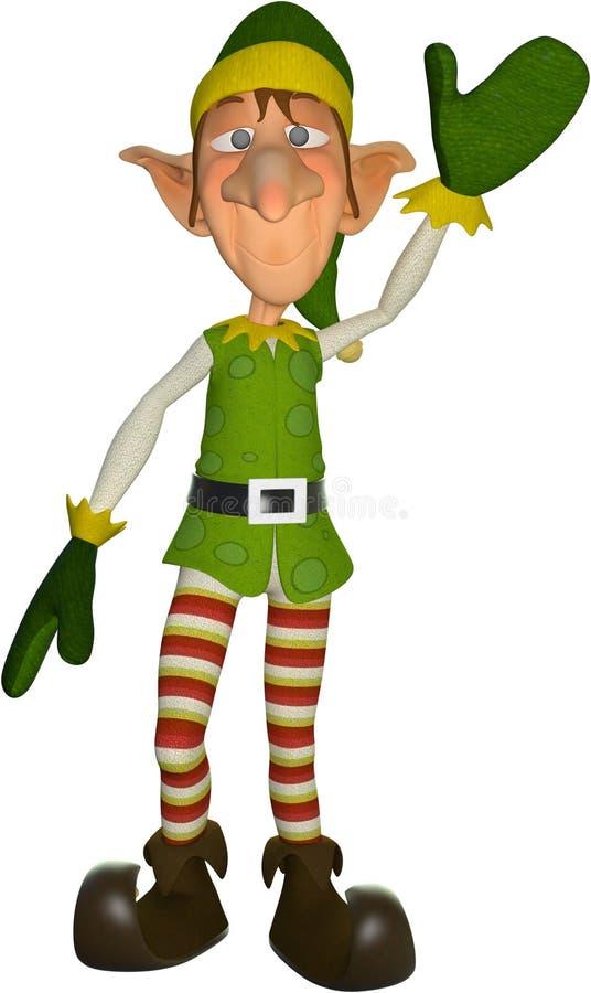 Funny Cartoon Christmas Elf Isolated, Holidays vector illustration
