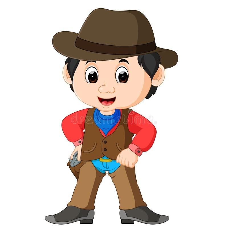 Funny cartoon cowboy. Illustration of Funny cartoon cowboy royalty free illustration