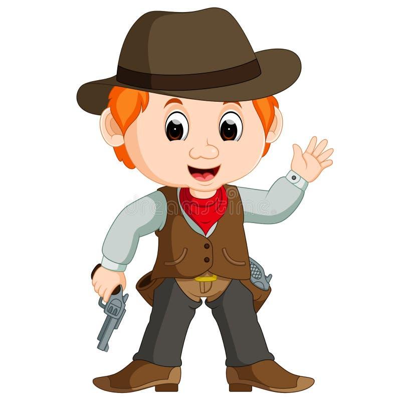 Funny cartoon cowboy. Illustration of Funny cartoon cowboy vector illustration