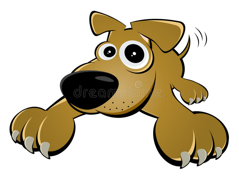 Funny cartoon dog vector illustration