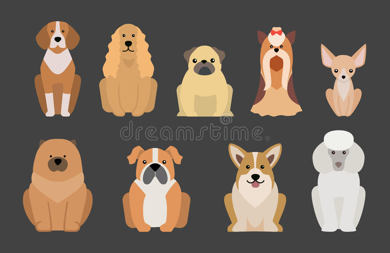 Funny cartoon dog character bread illustration in cartoon style happy puppy and isolated friendly mammal adorable mascot royalty free illustration