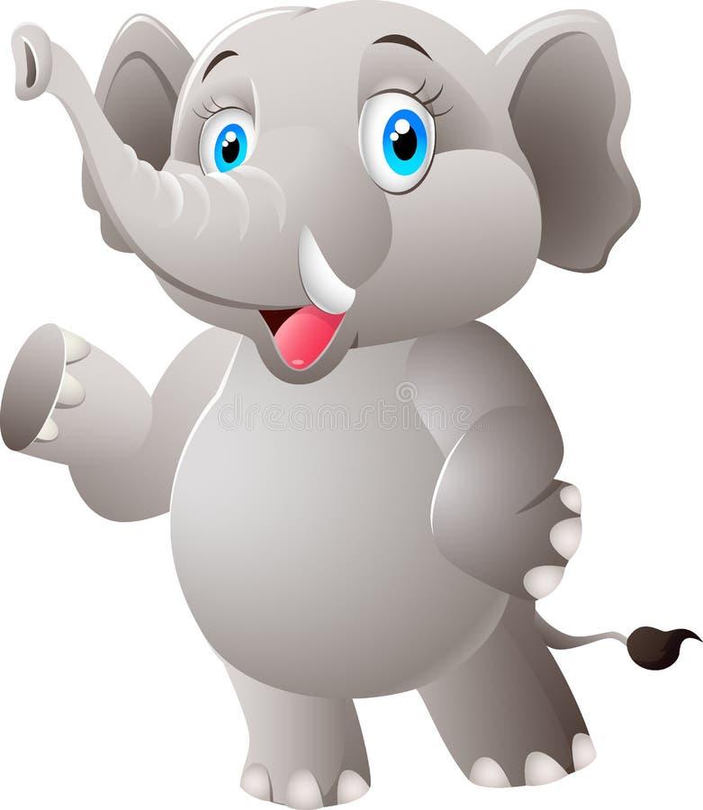 Funny cartoon elephant vector illustration