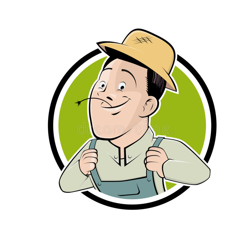 Download Funny Cartoon Farmer In A Badge Royalty Free Stock Photo - Image: 33360945