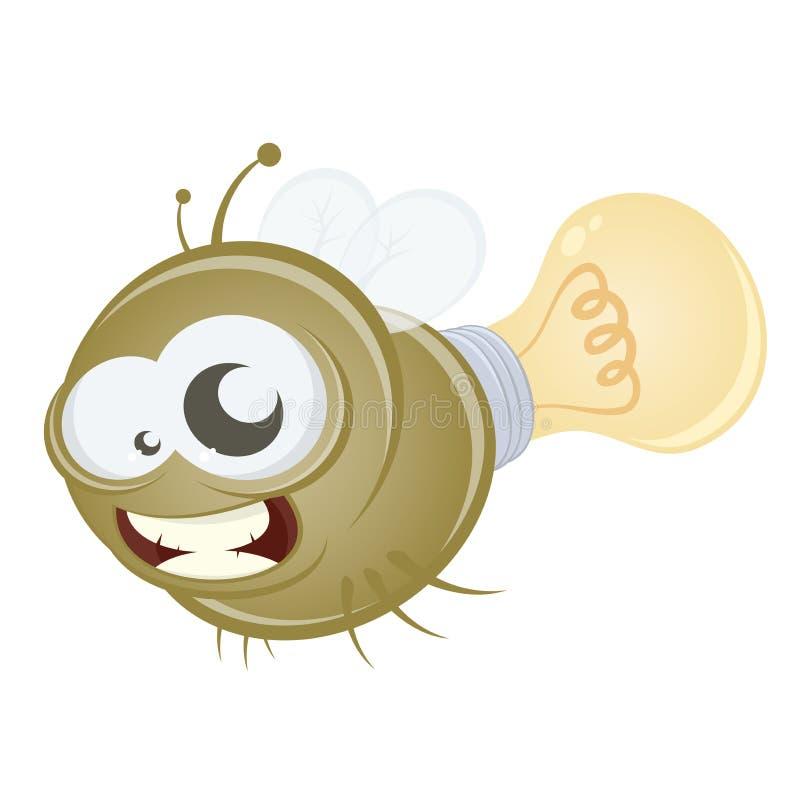 Download Funny cartoon firefly stock vector. Illustration of animal - 27332927