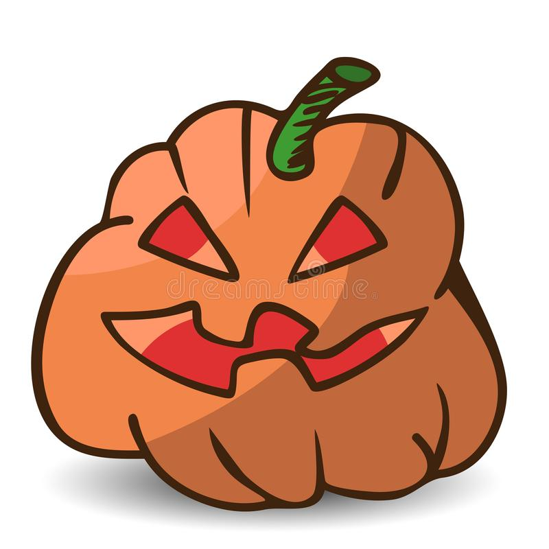 Funny cartoon Halloween pumpkin stock illustration