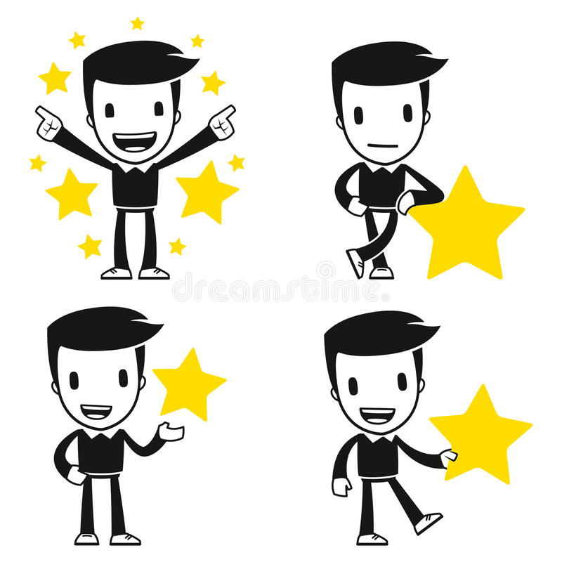 Download Funny cartoon helper man stock illustration. Image of copy - 26265233