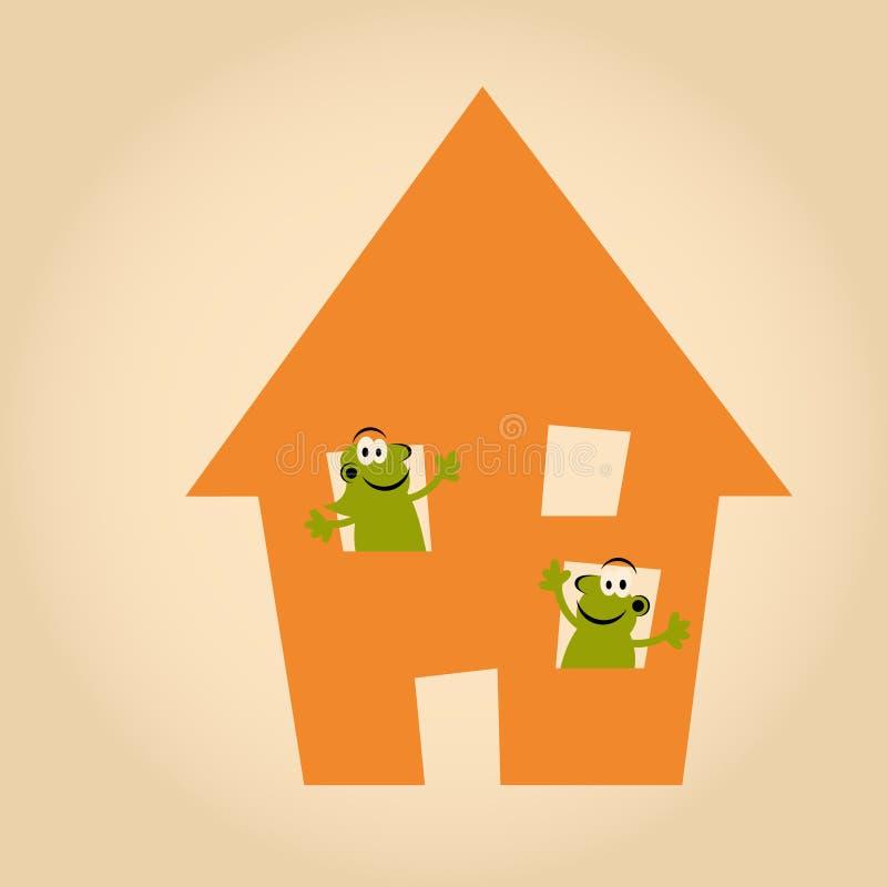 Download Funny cartoon house stock vector. Image of orange, estate - 24167550