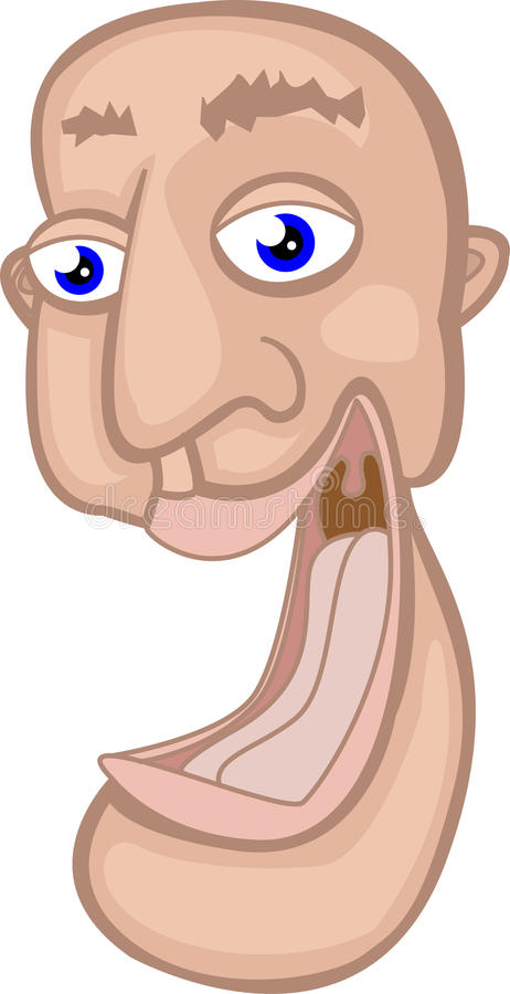 Funny Cartoon Laughing Face