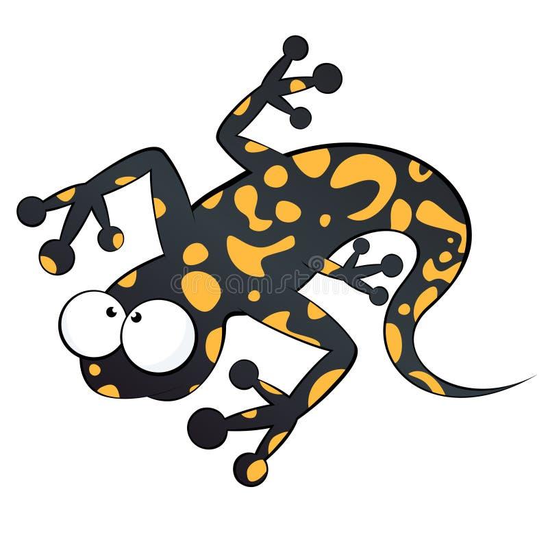 Funny cartoon lizard stock illustration