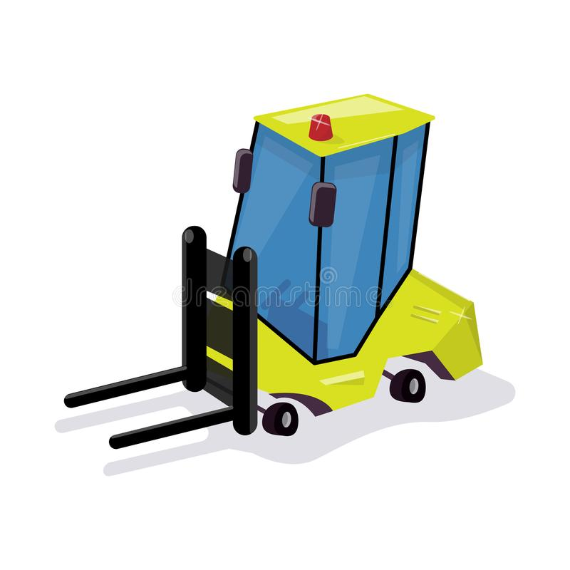 Download Funny Cartoon Loader. Equipment For The Warehouse. Stock Photo - Image of cargo, container: 111619062