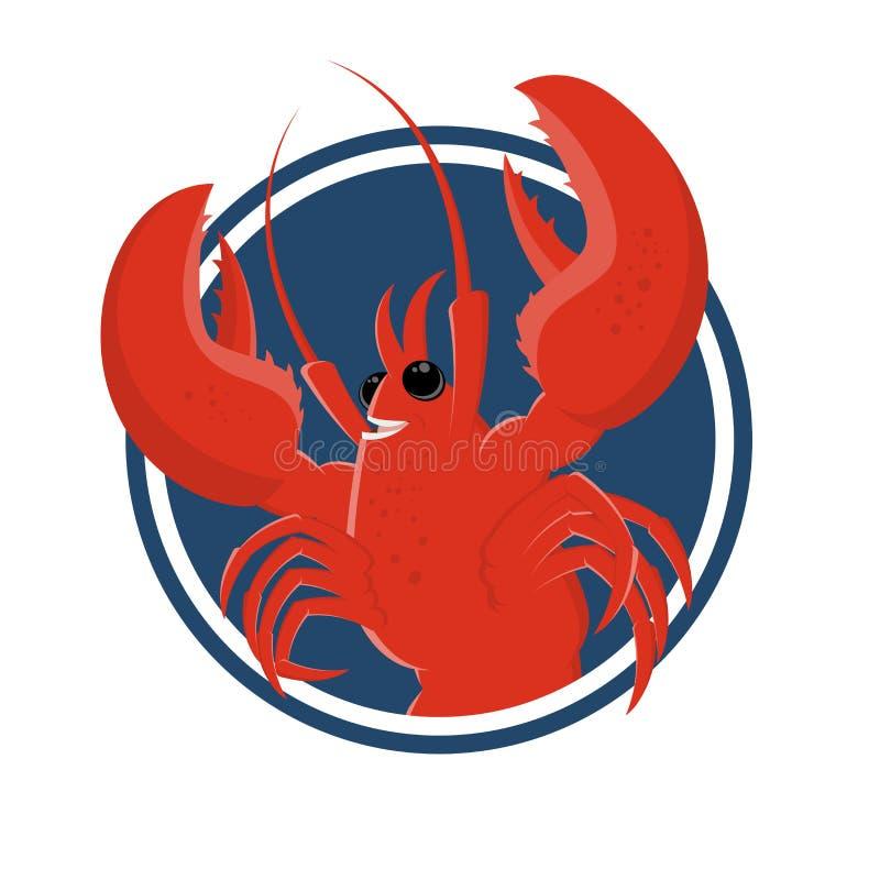 Funny cartoon lobster stock illustration