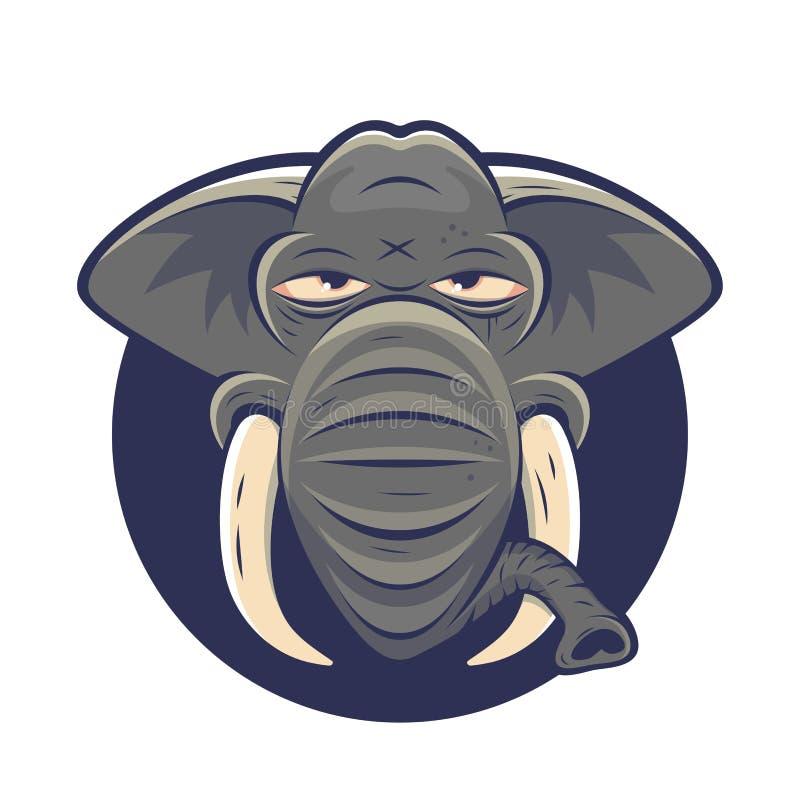 Funny cartoon logo of a lazy elephant. Cartoon logo of a lazy elephant royalty free illustration