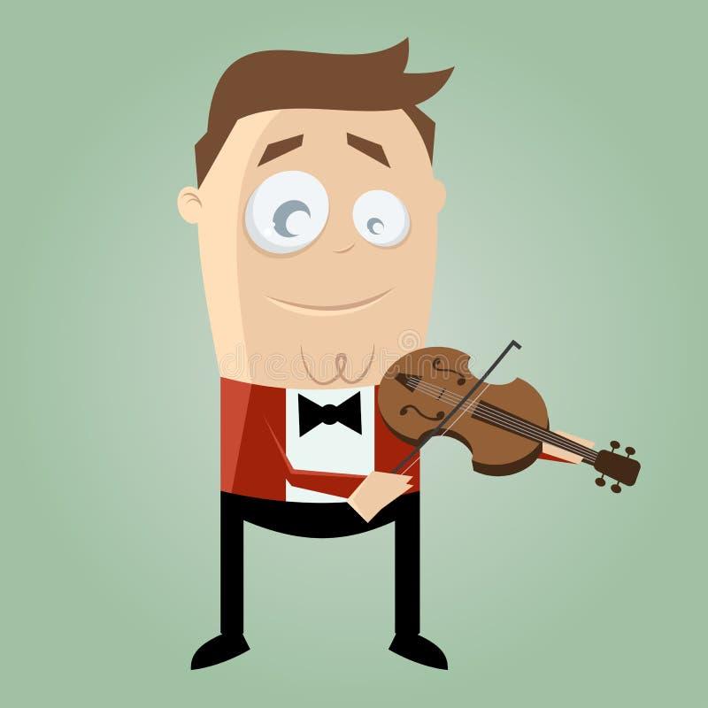 Download Funny Cartoon Man Playing Violin Stock Vector - Illustration: 32003814