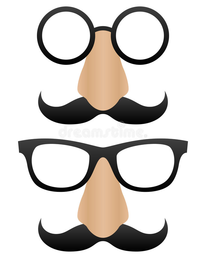 Funny Cartoon Masks vector illustration