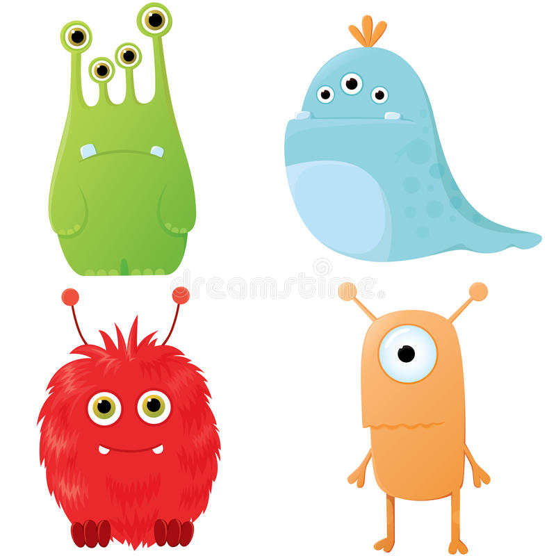 Funny cartoon monsters