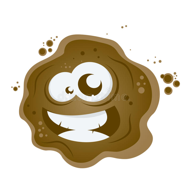 Funny cartoon mud vector illustration
