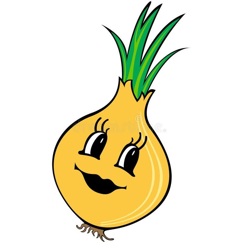 Funny cartoon onion vector illustration