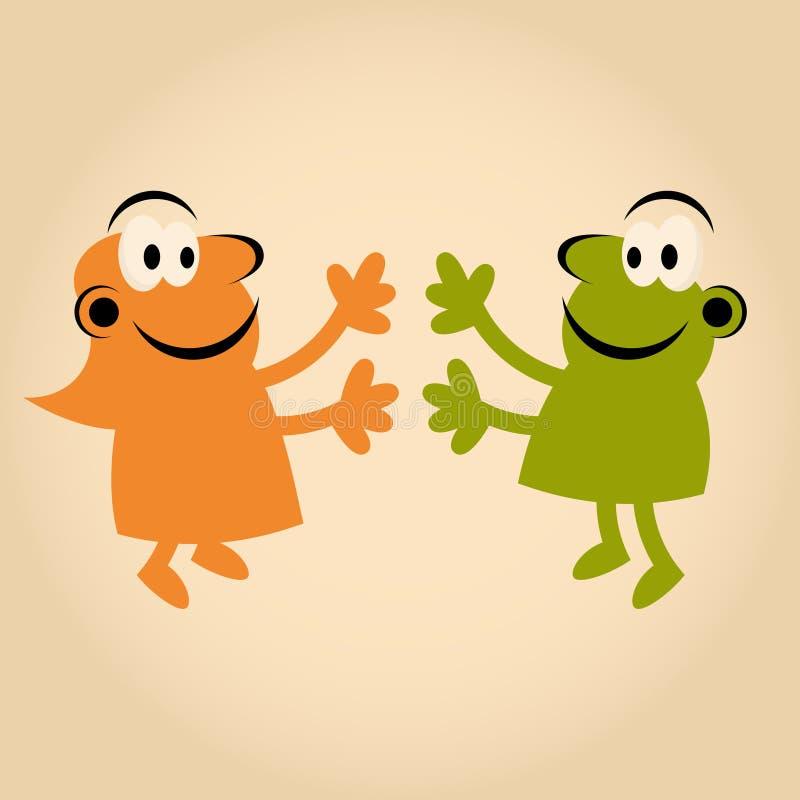 Download Funny Cartoon People In Love Stock Vector - Image: 24167355