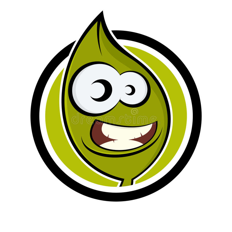 Download Funny cartoon plant stock vector. Image of leaf, amusing - 24778047