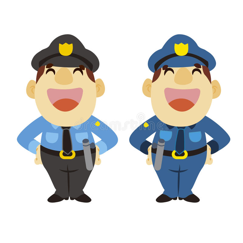 Download Funny Cartoon Policeman, Two Colors Stock Vector - Image: 28602957
