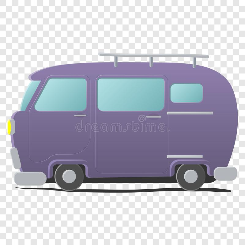 Funny cartoon van stock illustration