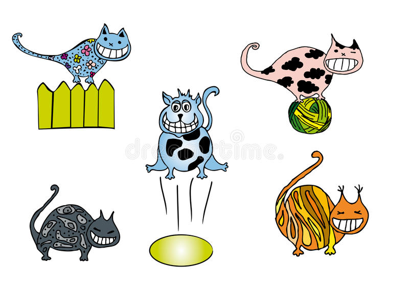 Download Funny cats stock illustration. Illustration of fence - 13245420