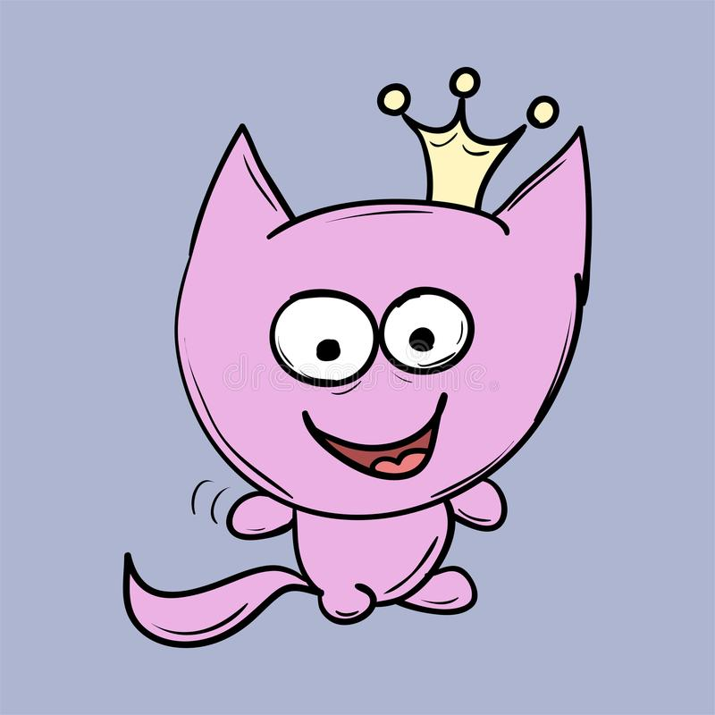 Funny cats. Suitable for childrens stories and fairy tales. Illustration stock illustration