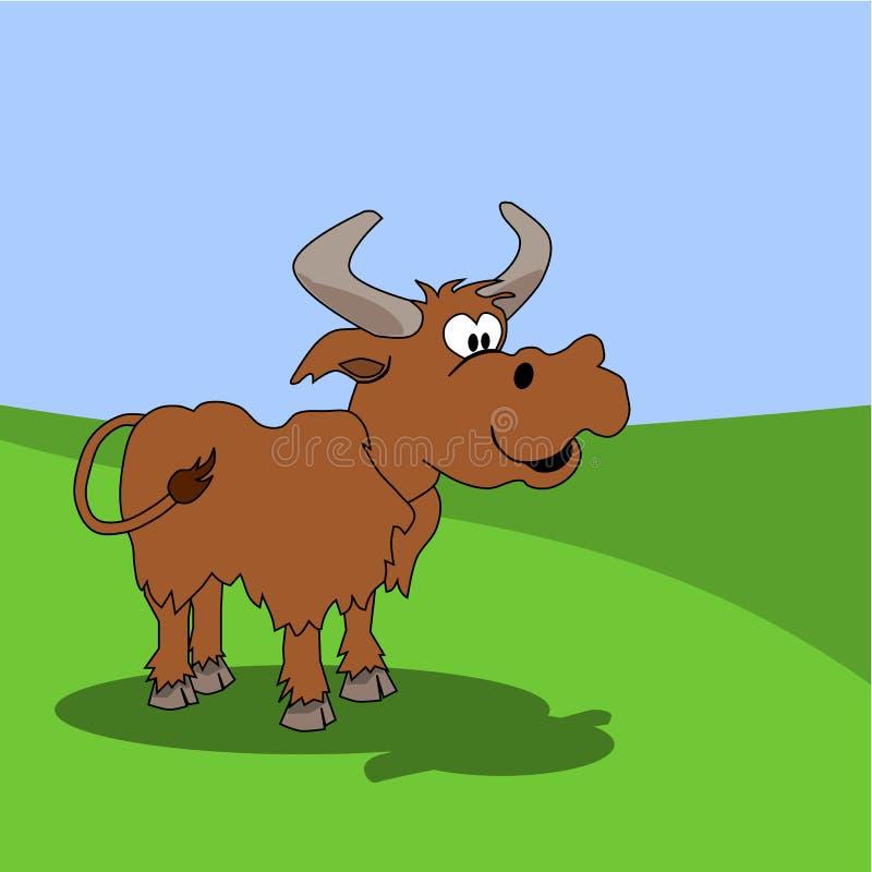 Download Funny cattle stock illustration. Image of buffalo, cartoon - 20404194