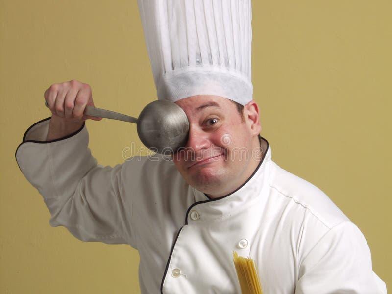 Funny chef. stock photo