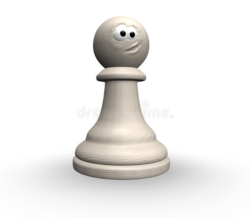 Download Funny chess pawn stock illustration. Image of eyes, illustration - 14850309